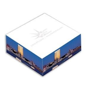 """3 3/8"""" x 1 1/4"""" Full Color Memo Cube -250 Sheet"""