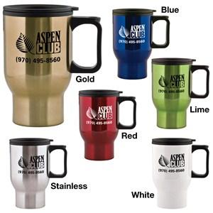 Stainless Steel Travel Mug - 15 oz