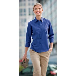 Ladies Easy-Care 3/4 Sleeve Shirt
