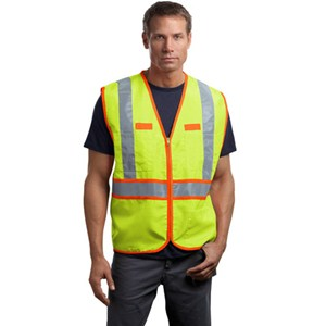 Cornerstone® Dual-Color Safety Vest with Pencil Stall