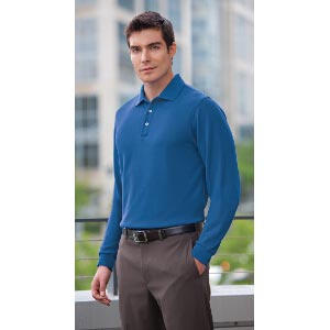 Long Sleeve EZCotton Pique Sport Shirt