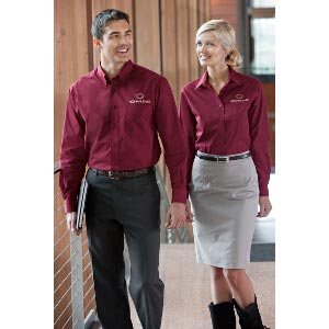 Ladies Tonal Pattern Easy-Care Shirt