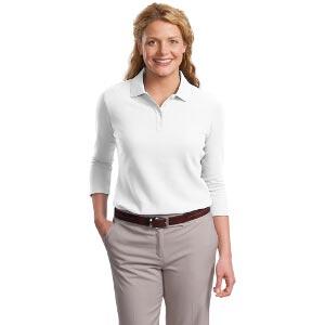 Ladies EZCotton Pique 3/4 Sleeve Sport Shirt
