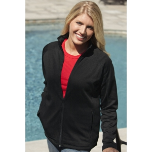 Womens Brushed Back Microfleece Full-Zip Jacket