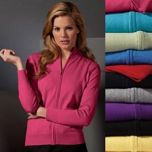 Ladies Full-Zip Cardigan Sweater