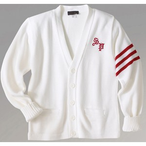 Varsity V-Neck Long Sleeve Cardigan Sweater