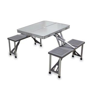 Aluminum Folding Picnic Table with 4 Seats
