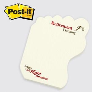 Medium Foot Post-it® Notepad - 50 Sheet
