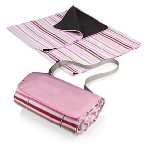 Pink Stripe Blanket Tote