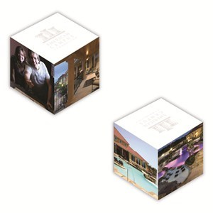 """2 1/8"""" Full Color Micro Sticky Memo Cube - 375 Sheet"""