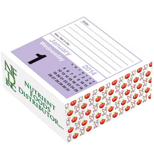 The Daily Cube Calendar Note Pad