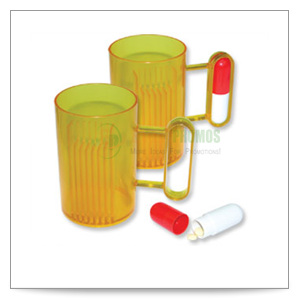 CUP WITH CAPSULE HANDLE