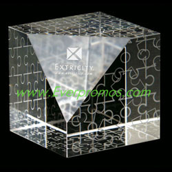Crystal Puzzled Paperweight