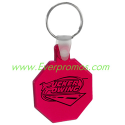 Soft Stop Sign Key Tag