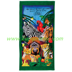 Fiber Reactive Zoo Towel