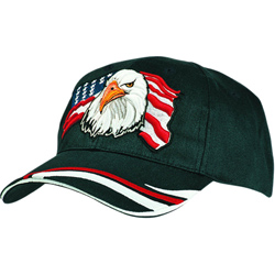 Heavy Sports Twill Hat with Eagle USA Design