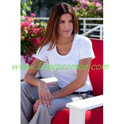 Port Authority® Ladies Silk Touch™ Interlock Scoop Neck Shirt