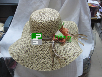 Lady paper straw hat